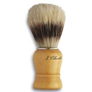 3C Pędzel do golenia naturalne włosie
