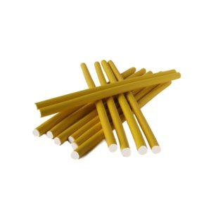 Papiloty latex dł.10mm żółte 12szt./op.