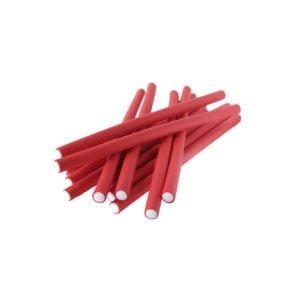 Papiloty latex dł.12mm czerwone 12szt./op.