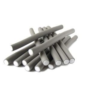 Papiloty latex dł.18mm szare 12szt./op.