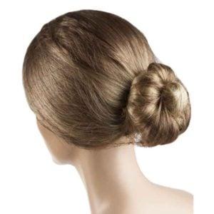 Siatka na włosy elastyczna cienka brązowa