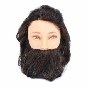 Fryzjerska główka treningowa męska z brodą