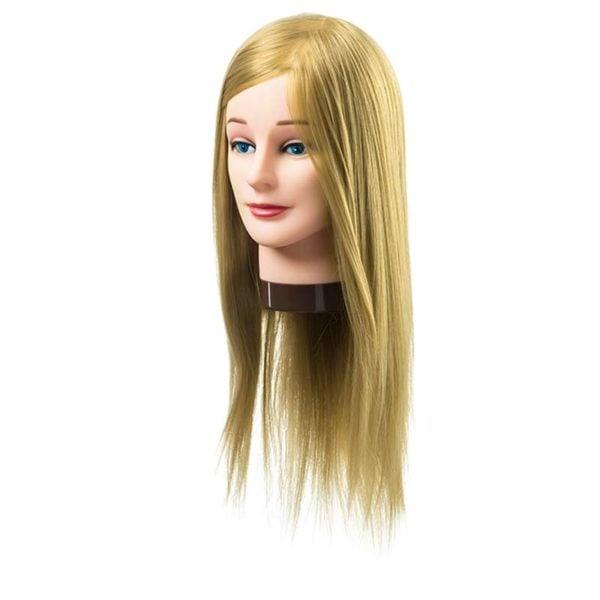 Fryzjerska główka treningowa włosy blond 35-40cm