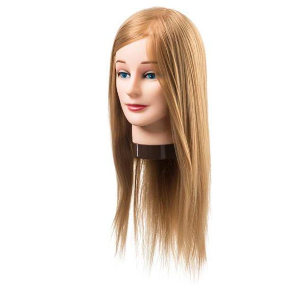 Fryzjerska główka treningowa włosy blond 45-55cm