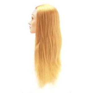 Fryzjerska główka treningowa włosy blond 65-70cm