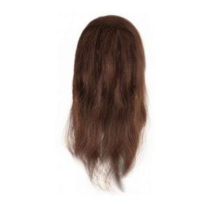 Fryzjerska główka treningowa włosy brąz 40-45cm