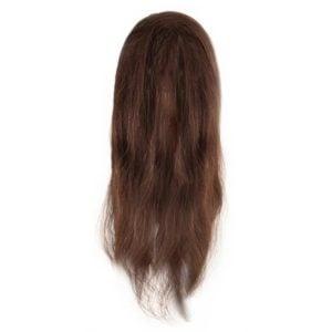 Fryzjerska główka treningowa włosy brąz 45-50cm