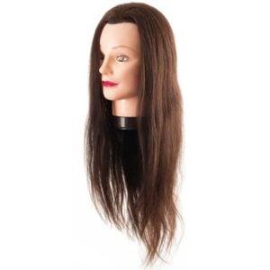Fryzjerska główka treningowa włosy brąz 55-60cm