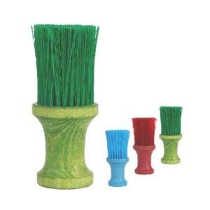 Karkówka drewniana okrągła kolor. naturalne włosie