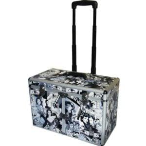 Kufer fryzjerski aluminiowy designerski na kółkach