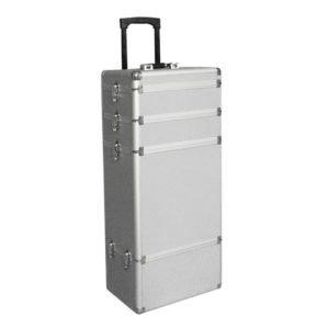 Kufer fryzjerski modułowy, aluminiowy, na kółkach