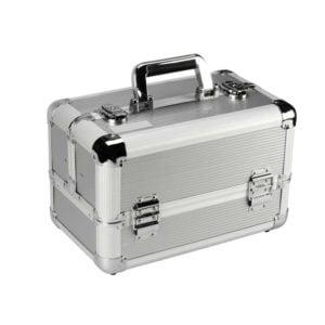 Kufer kosmetyczny aluminiowy, srebrny