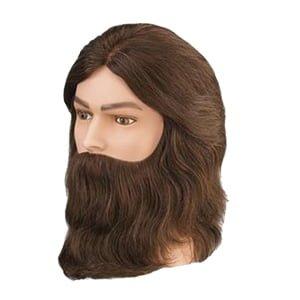 Model fryzjerski męski z brodą